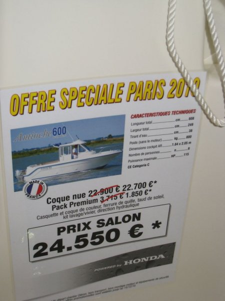 prix salon paris 2010 Guymarine Antioche 600