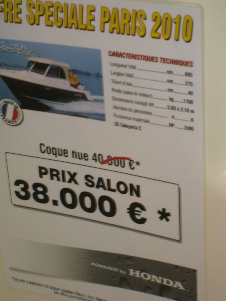 prix salon paris 2010 Guymarine Antioche 740