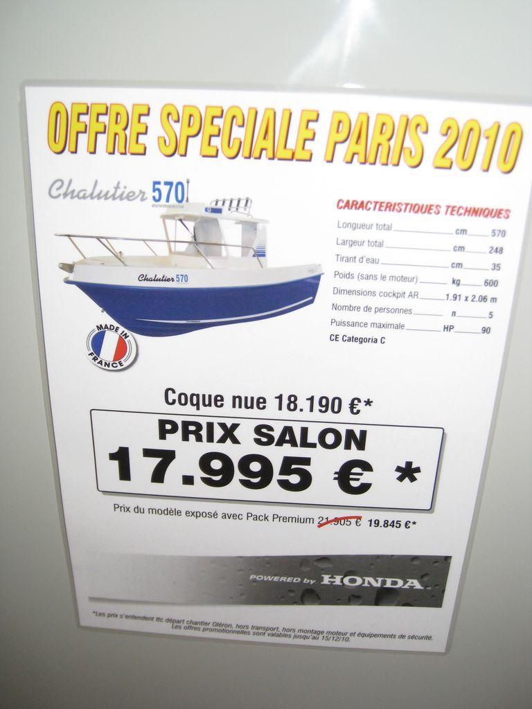 prix salon paris 2010 Guymarine Antioche Chalutier 570