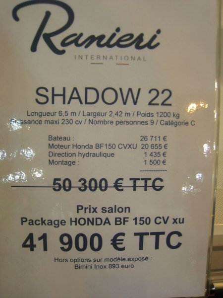 prix salon paris 2010 Ranieri Shadow 22