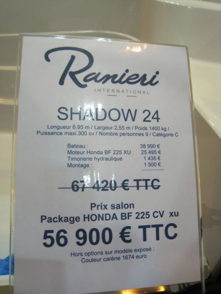 prix salon paris 2010 Ranieri shadow 24