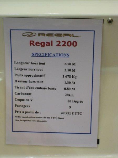 prix salon paris 2010 Regal 2200