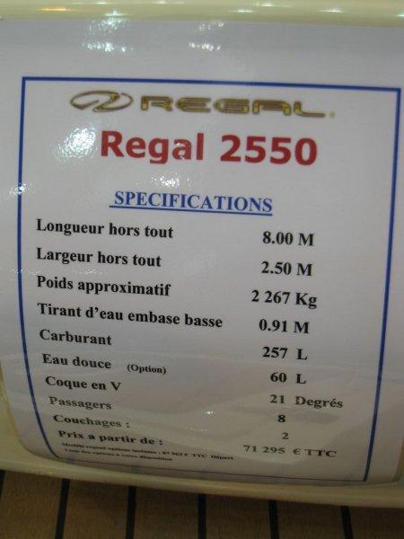 prix salon paris 2010 Regal 2500