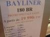prix salon paris 2010 Bayliner 180 BR