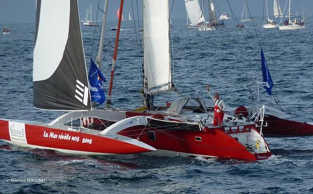 Depart de la mer revele nos sens Route du Rhum 2010
