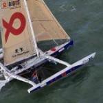 Route du Rhum 2010 - Arrivée 5ème de Erik Nigon sur Multi 50 Axa Atout Coeur pour AIDES