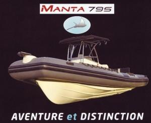 Bateau semi-rigide Pro marine Manta 795