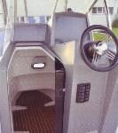 semi-rigide manta 795 poste de pilotage