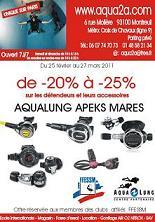 Promotion matériel plongée aqua2a - 25 février-27 mars 2011