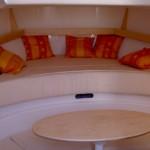 Intérieur cabine Pro Marine Belone 740 Sundeck