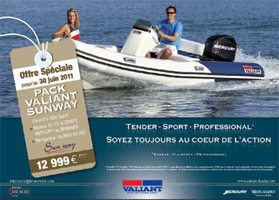 Promo pack valiant v500-sport 50cv et remorque sunway