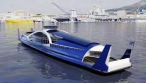 Navette électrique du futur: un bateau pour passagers écologique