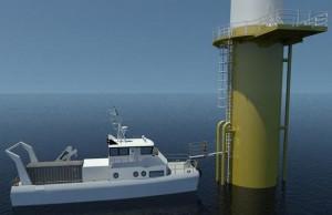 Navette de maintenance pour éoliennes du futur : un bateau écologique