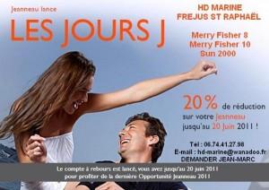 Promo Jeanneau HD Marine sur Merry Fisher 8-10 et Sun 2000