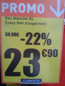 Cabesto - Prix sac de bord crazy fish étanche