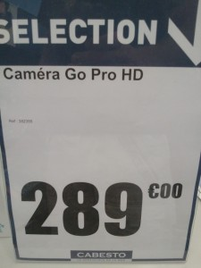 Cabesto - Prix caméra Full HD marine Go Pro
