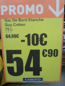 Cabesto - Prix sac de bord étanche Guy Cotten