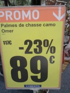 Cabesto - prix palmes OMER camouflage