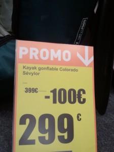 Cabesto - Prix kayak gonflable vert/gris/noir Sevylor