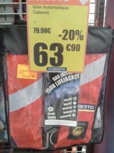 Cabesto - Gilet gonflable système Hammar pas cher
