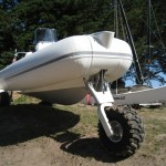 Sealegs - Gamme plaisance blanc avec Etec 90cv - roue avant