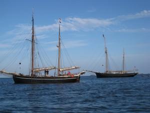 Festival du chant de marins : goëlette à Bréhat