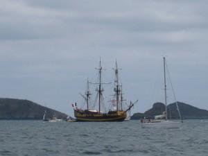 Festival du chant de marins : galion au Mez Goëlo appelé autrefois Le grand turc