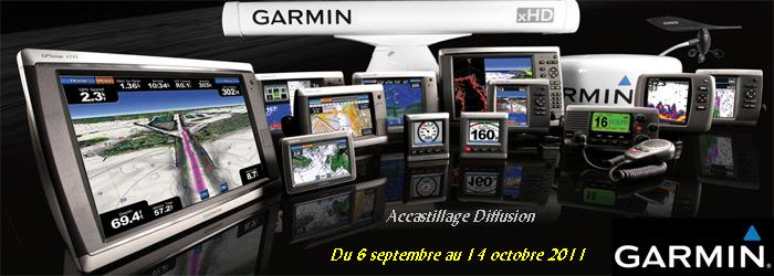 Accastillage Diffusion - operation réductions gamme Garmin marine