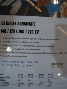 Tarif salon paris 2010 Volvo Penta D3 Diesel Aquamatic 140-170-200-220 cv
