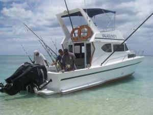 Bateau Timonier Wagabond - Pêche au gros à l'île Maurice - Flic en Flac