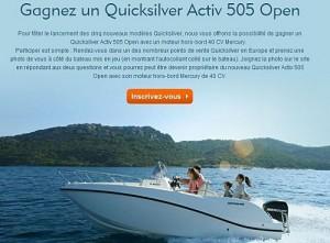 Jeu Concours Quicksilver Activ 505 Open