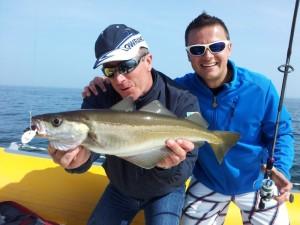 Eric Sauvage - pêche aux lieux sur les Glénans