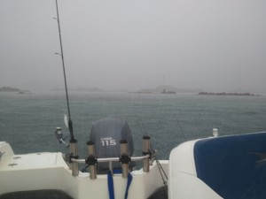 Temps pluvieux en mer bretonne -juillet 2012